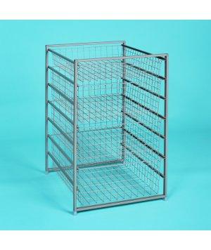 7-уровневый стеллаж с сетчатыми корзинами