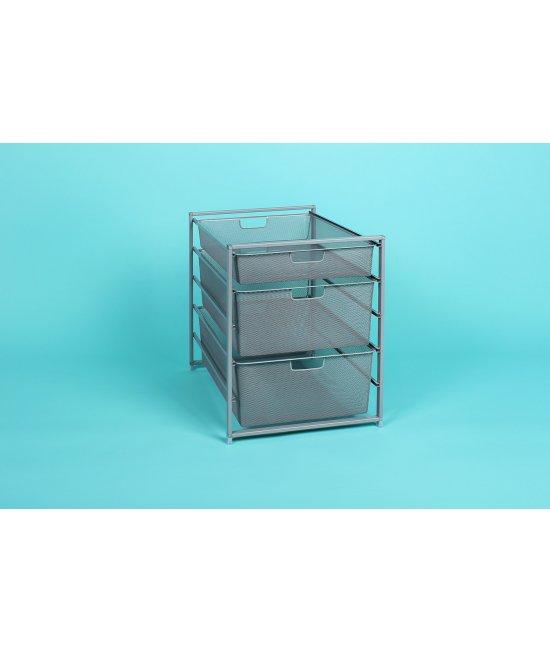 Стеллаж 5-уровневый с мелкосетчатыми корзинами